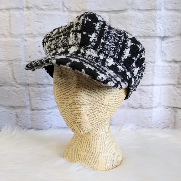 """""""Andy's"""" Tweed Page Boy Newsies Cap Hat"""